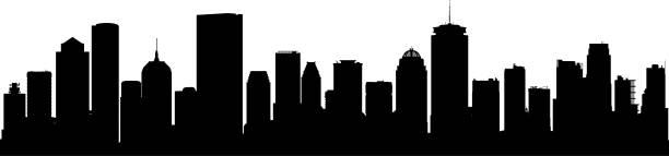 Best Boston Skyline Illustrations, Royalty.
