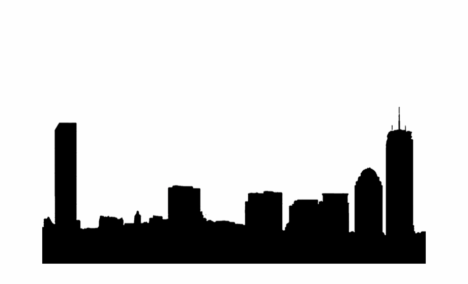 Silhouette Boston Skyline Free PNG Images & Clipart Download.
