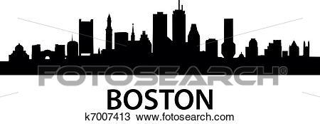 Skyline Boston Clipart.