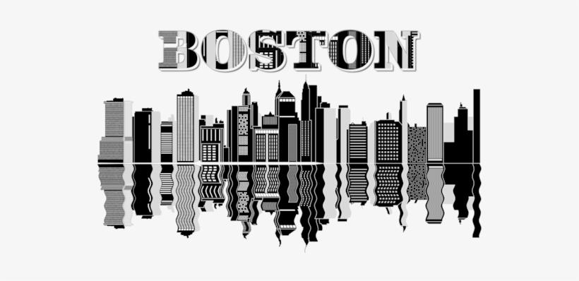 Boston Silhouette Skyline.