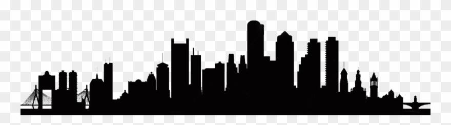 Boston City Skyline Silhouette At Getdrawings.