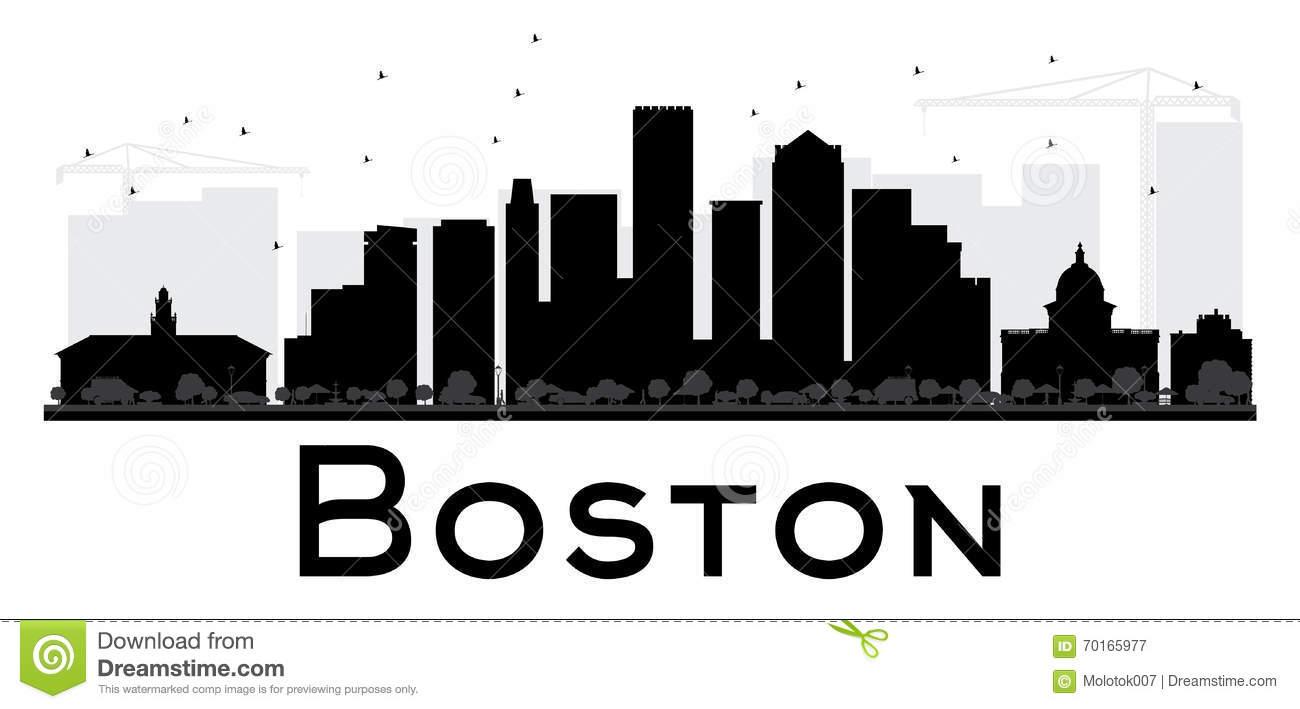 Boston Skyline Stock Illustrations.