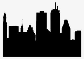 Boston Skyline Silhouette PNG, Transparent Boston Skyline Silhouette.