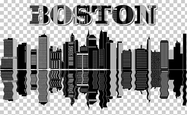 Boston Skyline PNG, Clipart, Angle, Animals, Art, Black And White.