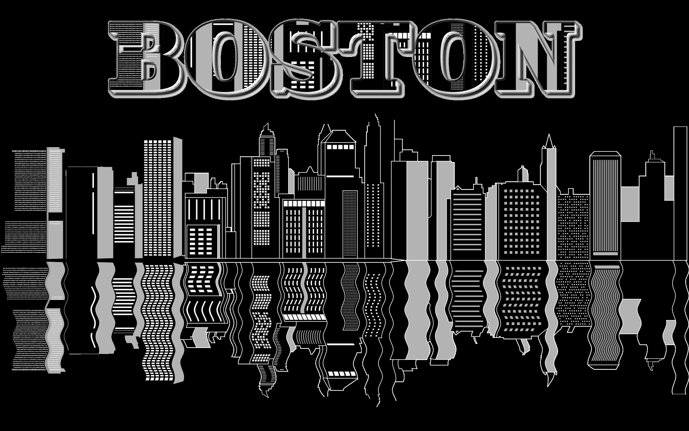 Boston Skyline Clip art.