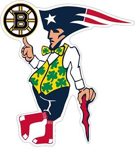 Details about Boston Guy Sports Teams Logo Mash Up Vinyl Decal.