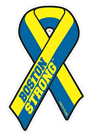 Boston Strong Ribbon Car or Fridge Magnet in 2 Sizes (2.0\