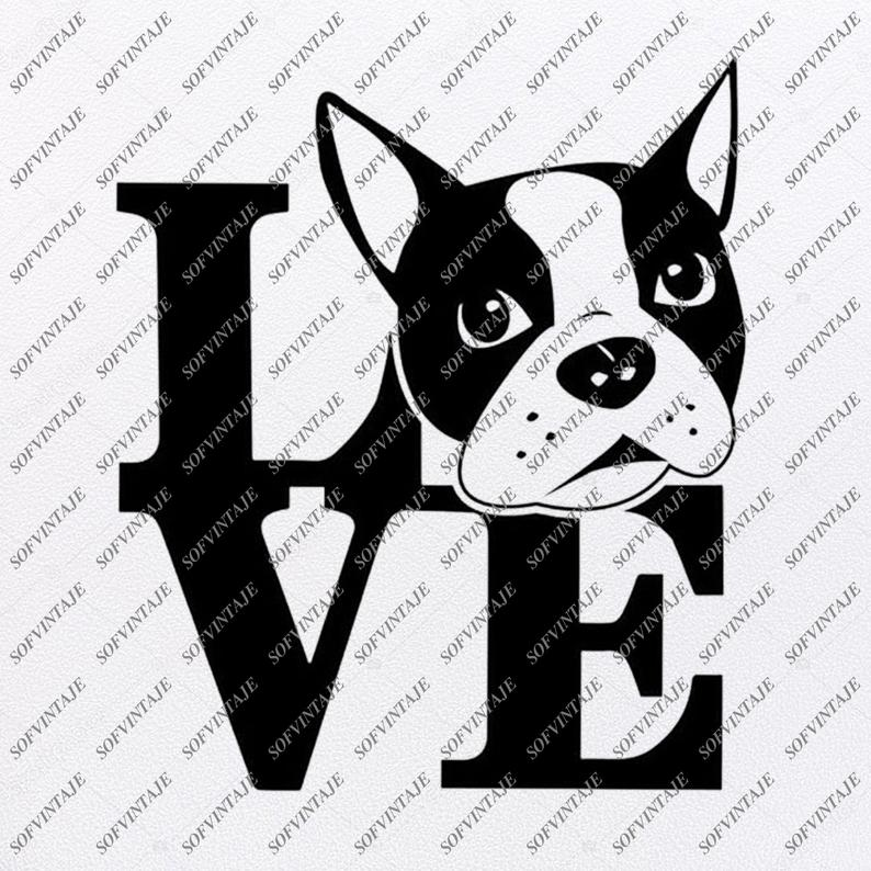 Boston Terrier Svg.