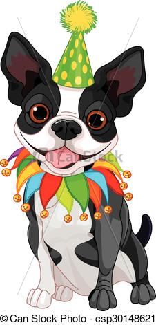 Boston terrier Vector Clipart Illustrations. 240 Boston terrier clip.