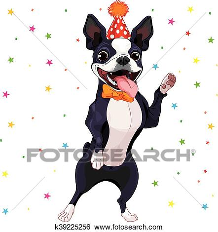 Boston Terrier Party Clip Art.