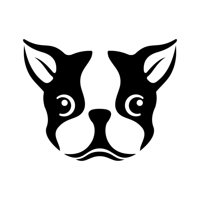 Boston Terrier Dog Face Head graphics design SVG DXF EPS Png Cdr Ai Pdf  Vector Art Clipart download Digital Cut Print Files Decal T.