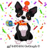 Boston Terrier Clip Art.
