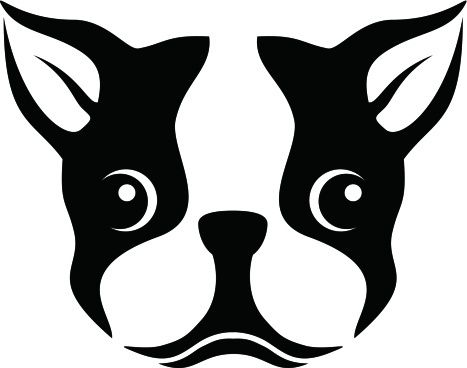 Boston Terrier Silhouette Stencil Clipart ….