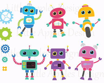 Baby Robot Clipart.