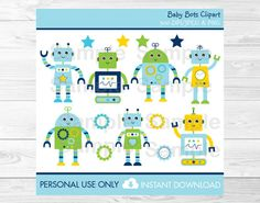 Optimal Robot digital clip art from revidevi on TeachersNotebook.