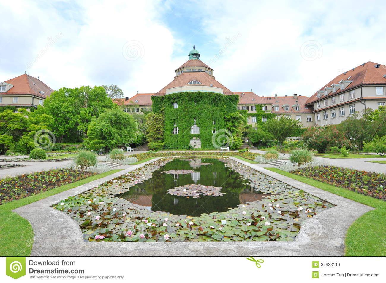 Munich, Botanical Garden Orchids Greenhouse Editorial Stock Image.