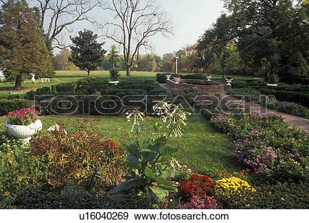 Stock Photograph of garden, Dover, Delaware, Woodburn's Garden.