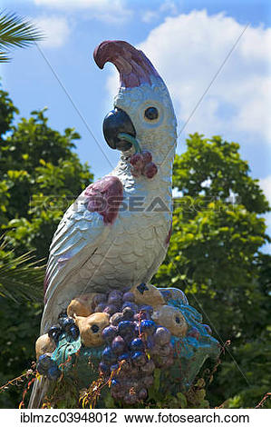 "Stock Photo of ""Parrot figure made by the Nymphenburg Porcelain."