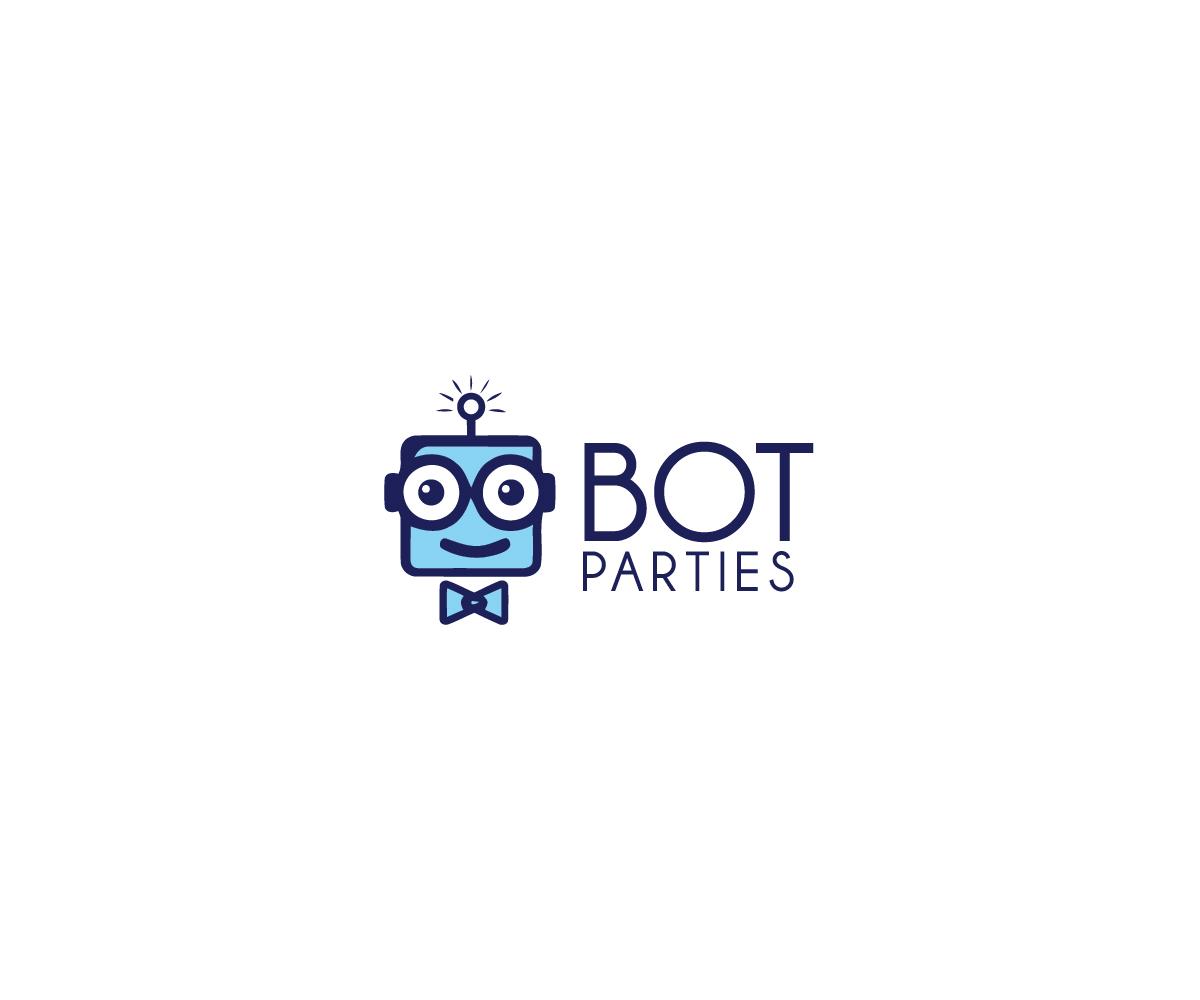 Bot Parties new robotics event company logo design.