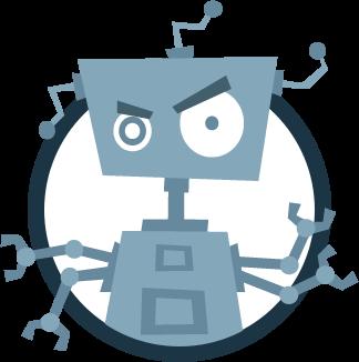 Bot Blue Circled Clipart transparent PNG.