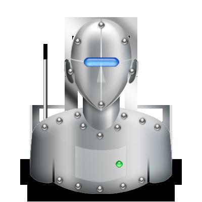 Bot, robot icon.