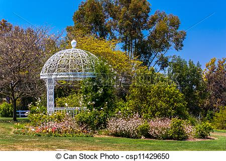 Stock Images of Wedding Gazebo atSouth Coast Botanic Garden.