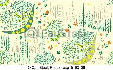 Stock Illustration of Botanical garden.
