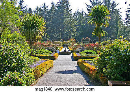 Stock Photography of Shore Acres State Park and Botanical Gardens.