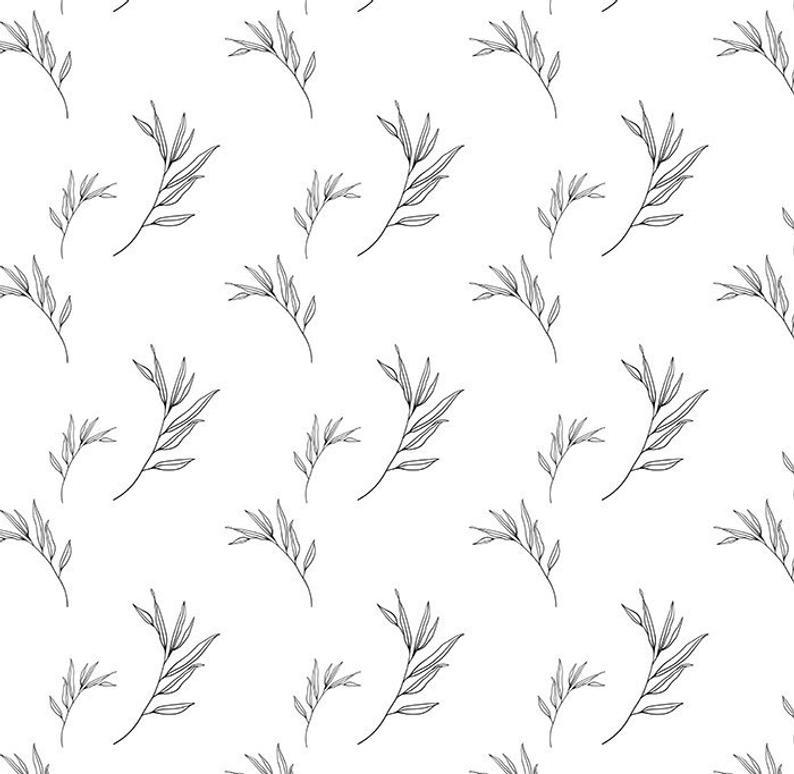 Sprig pattern, Botanical Clipart, Botanical pattern, Hand Drawn Floral,  Hand Drawn Leaf, Clip art illustrations plant, Printable.