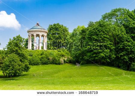 Monopterus Monument English Garden Munich Bavaria Stock Photo.