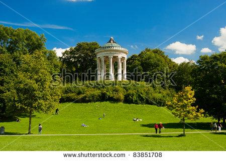Englischer Garten Munich Stock Photos, Royalty.