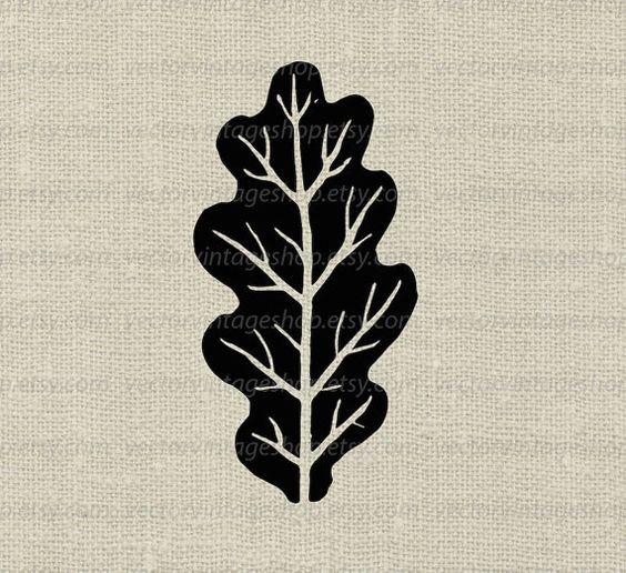 Feuille Silhouette Clipart, feuilles de chêne Vector Clip Art, Art.