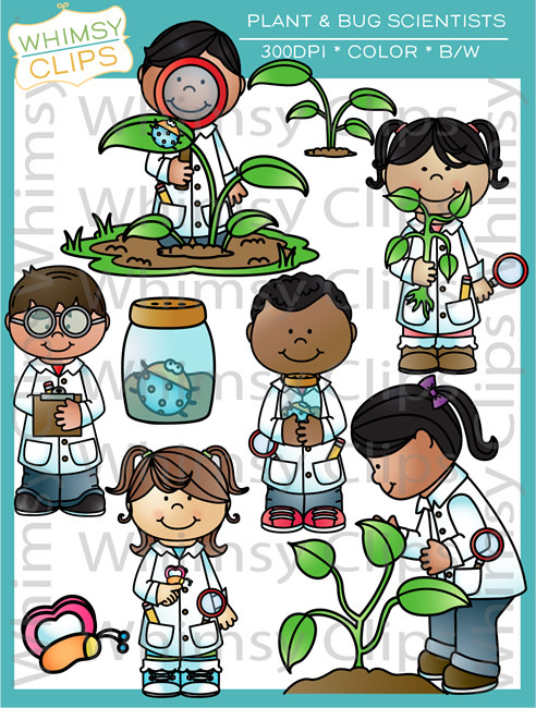 Plant and Bug Scientists Clip Art , Images & Illustrations.