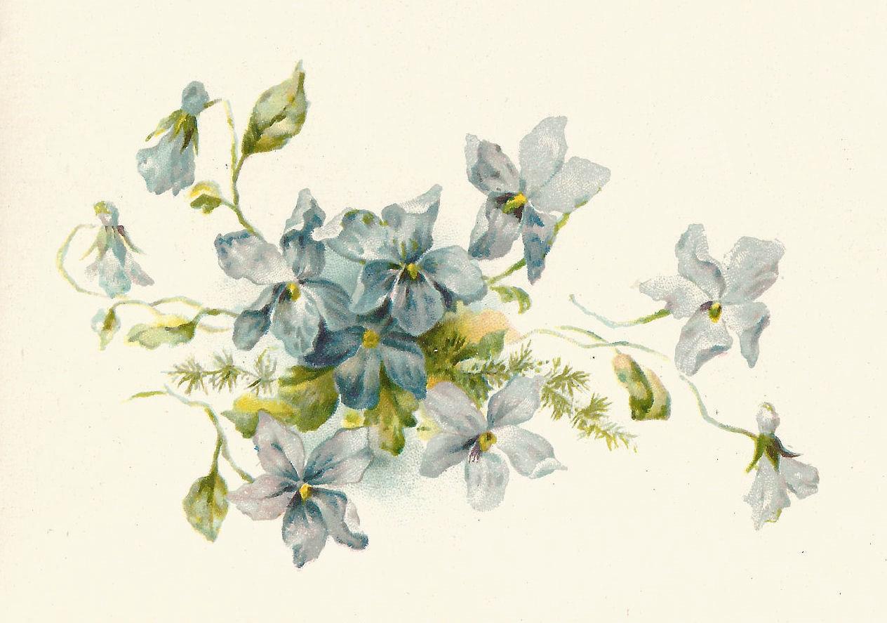 Flowers Vintage Clipart.