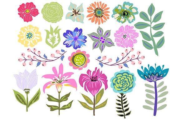 Flowers Clip Art 19 Illustrations ~ Illustrations on Creative Market.