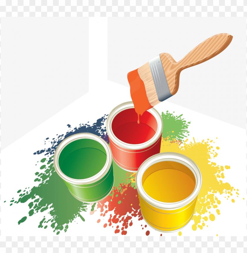 Download botes de pintura png.