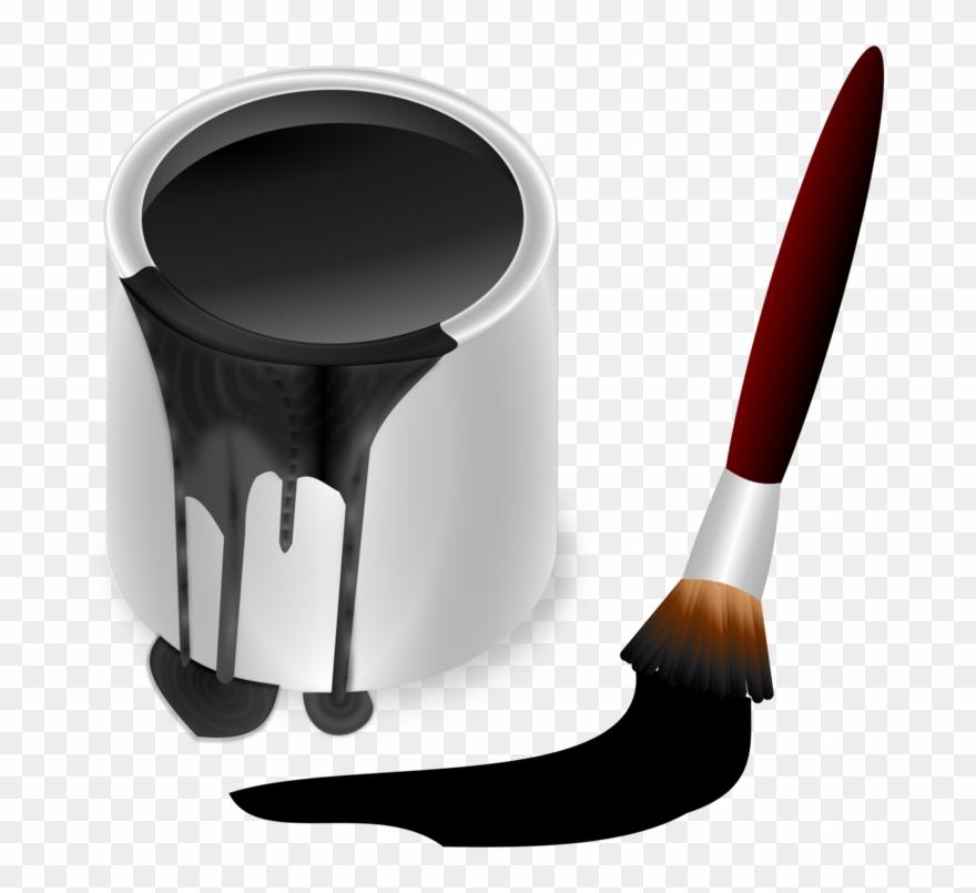 Paintbrush Bucket Painting.