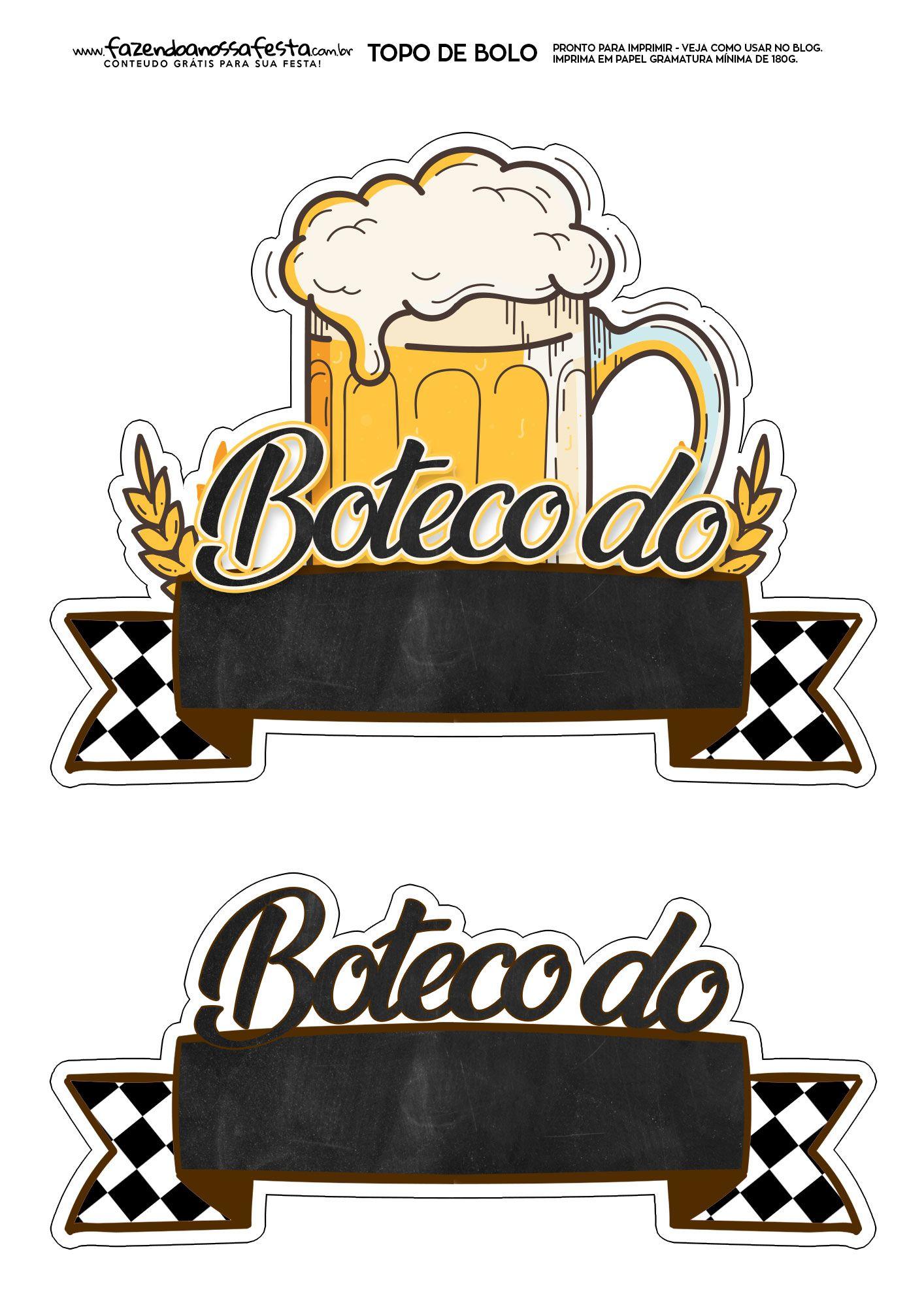 Topo de Bolo Boteco 1.