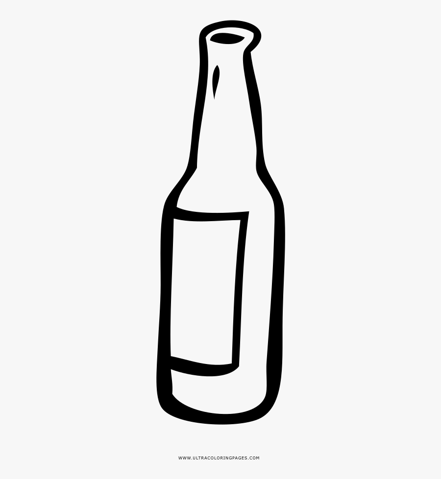 Bottle Coloring Page.