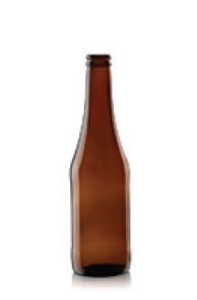 Botella Ámbar tipo Euro de 350ml.