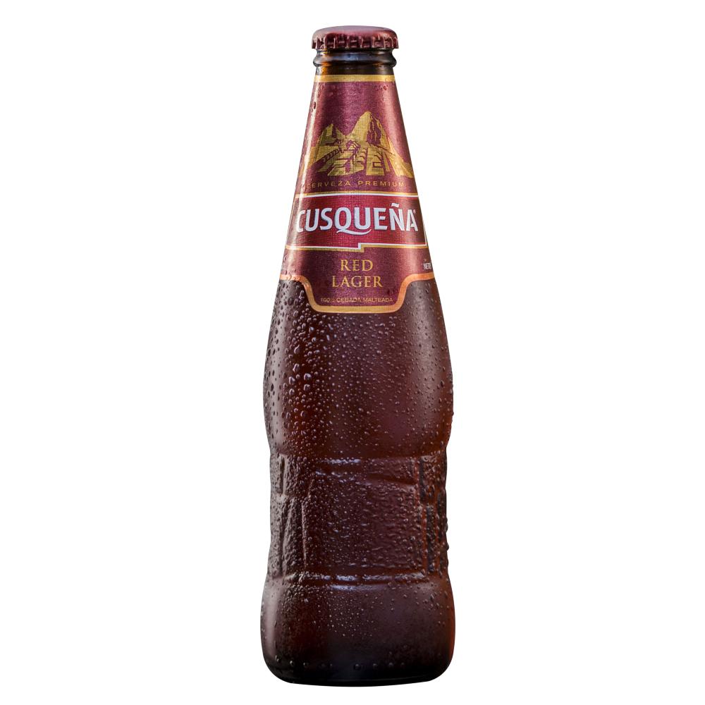 Cerveza Cusqueña Red Botella 330ml.