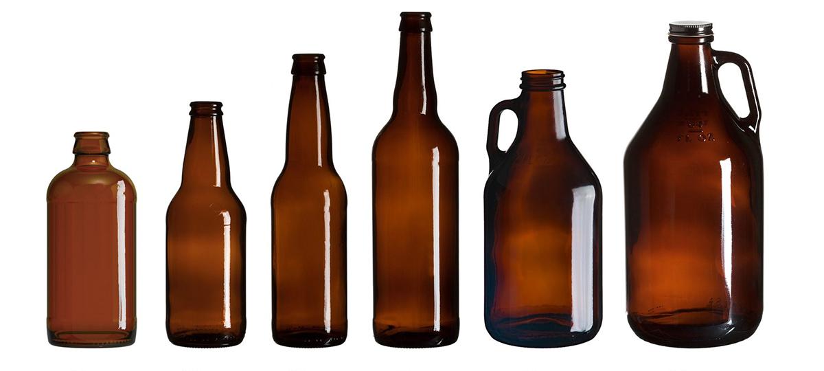 La geometría de las botellas de cerveza.