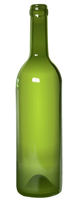 Vector Clipart: Botella de vidrio verde.