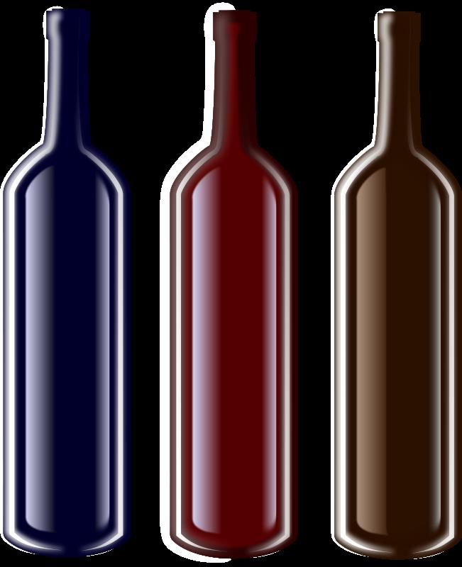Free Clipart: Botellas.
