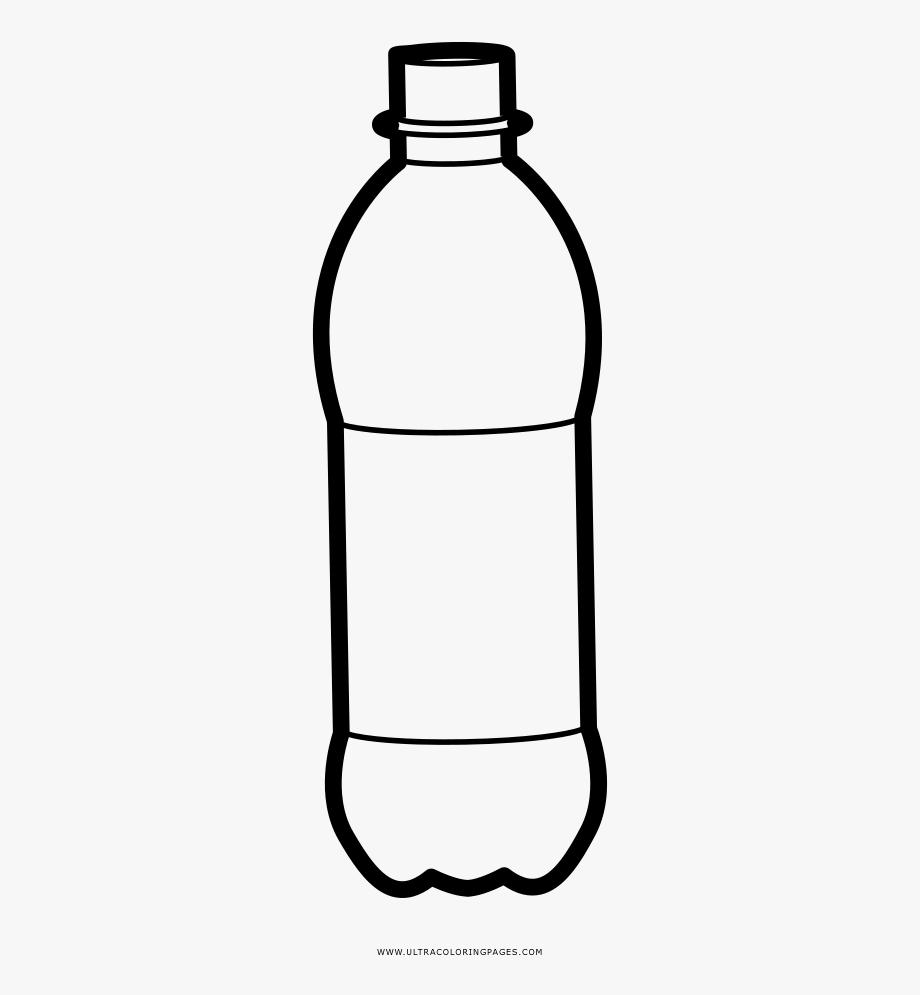Plastic Bottle Coloring Page.