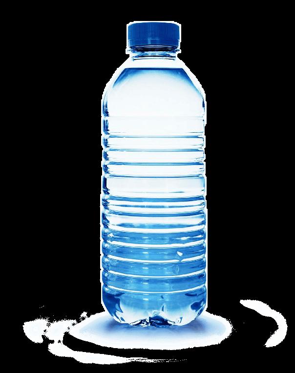 Botella de Agua Plástico PNG transparente.