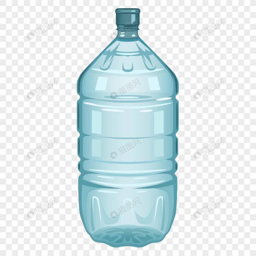 elemento de botella de plástico azul dibujado a mano Imagen.