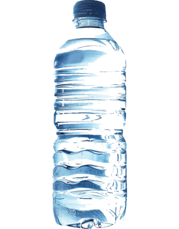 Botella de Agua de Plástico PNG transparente.