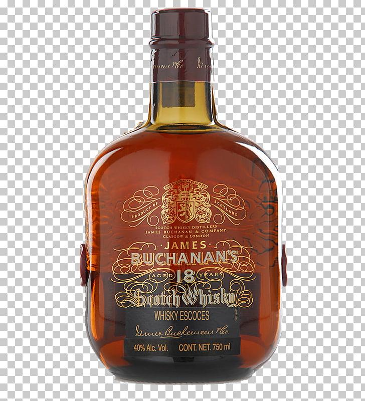 Tennessee whiskey Scotch whisky Liqueur Buchanan's, botella.