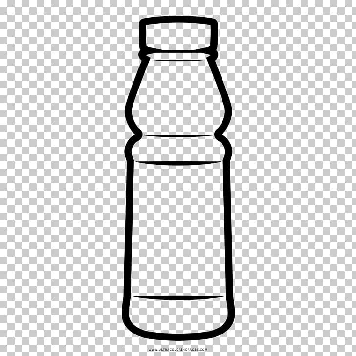 Botellas de agua botella de vidrio dibujo para colorear.